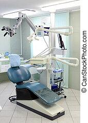 ортодонтическое, современное, стул, больница, дантист, комната