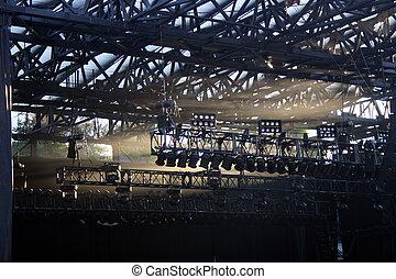 осветительные приборы, концерт