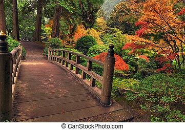 осень, мост
