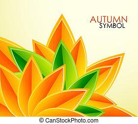 осень, leaves, вектор, задний план
