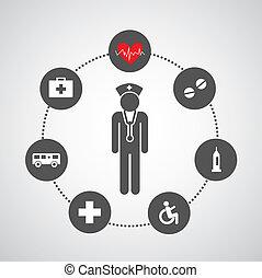 основной, больница, задавать, icons