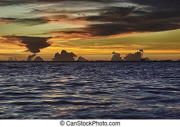 остров, восход, sanibel