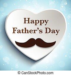 отец, люблю, день, усы, счастливый