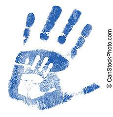 отец, сын, handprints