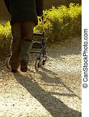 отключен, ходок, гулять пешком, медицинская, пожилой