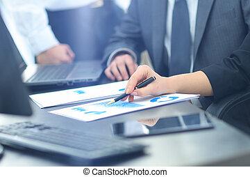 офис, группа, за работой, бизнес, люди