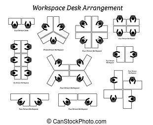 офис, договоренность, workspace, стол письменный, company.