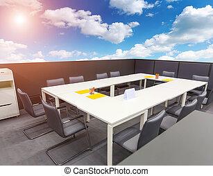 офис, открытый, воздух