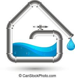 падение, водопроводные трубы