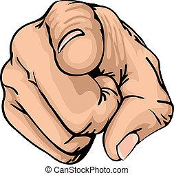 палец, pointing