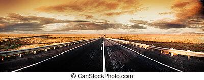 панорама, дорога