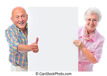 пара, доска, пустой, улыбается, старшая, счастливый