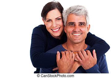 пара, зрелый, счастливый