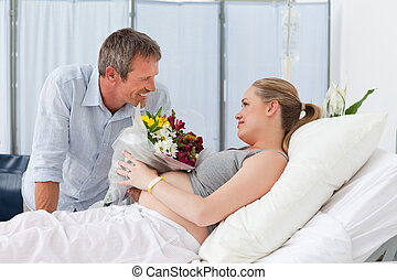 пара, adorable, больница, комната