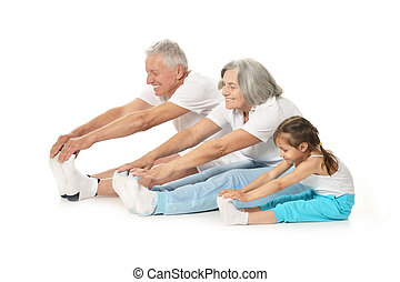 пара, exercising, старшая