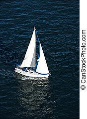 парусная лодка, sailing.