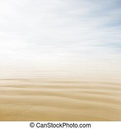 пастельный, морской пейзаж