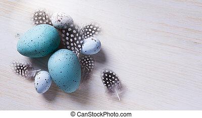 пасха, задний план, изобразительное искусство, дерево, flovers, весна, eggs
