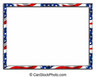 патриотический, рамка, граница, тонкий