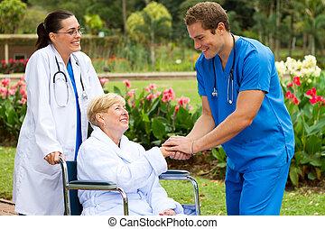 пациент, приветствие, восстановление, врач