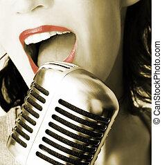певец, ретро