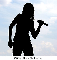 певец, силуэт