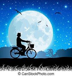 пейзаж, луна