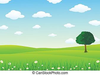 пейзаж, трава