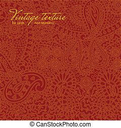 пейсли, марочный, текстура, дизайн, cards, красный