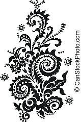 пейсли, цветочный, дизайн