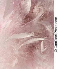 перо, задний план, угол, пушистый, розовый