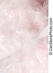 перо, облачный, пушистый, легкий, розовый