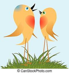 петь, song., birds, весна