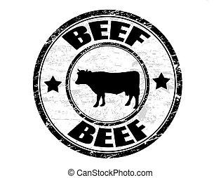 печать, говядина