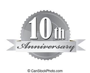 печать, иллюстрация, годовщина, 10-я