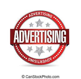 печать, advertising., слово, иллюстрация