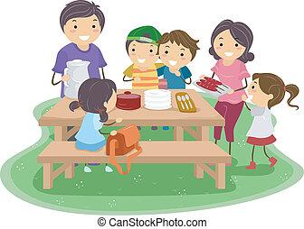 пикник, семья