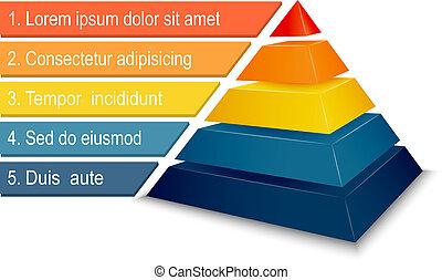 пирамида, диаграмма, infographics