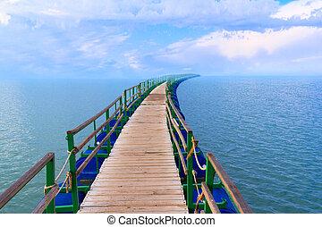 пирс, море, пейзаж