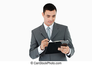 письмо, буфер обмена, бизнесмен