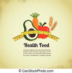 питание, вектор, здоровье, задний план