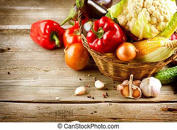 питание, здоровый, органический, vegetables., био