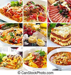 питание, коллаж, итальянский