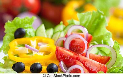 питание, овощной, свежий, салат, здоровый