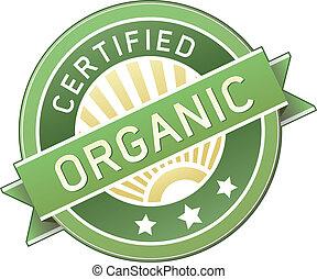 питание, продукт, органический, или, метка
