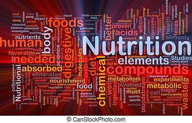 питание, пылающий, концепция, здоровье, задний план