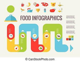 питание, infographic, elements.