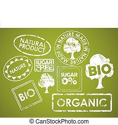 питание, stamps, задавать, органический