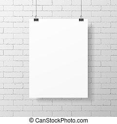 плакат, белый, пустой