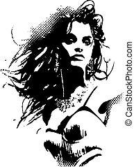 плакат, женщина, изобразительное искусство, поп